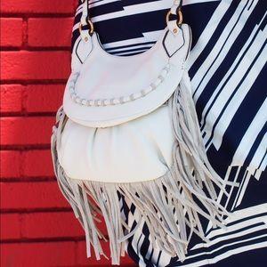 Leather Fringe Crossbody Bag